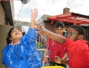 Yellow Class water play cooperation