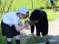 Jess & Ayanna gardening